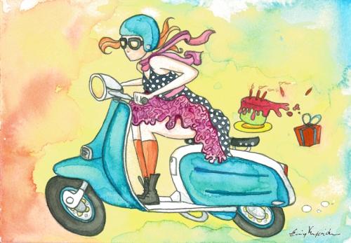 bithday-scooter-girl