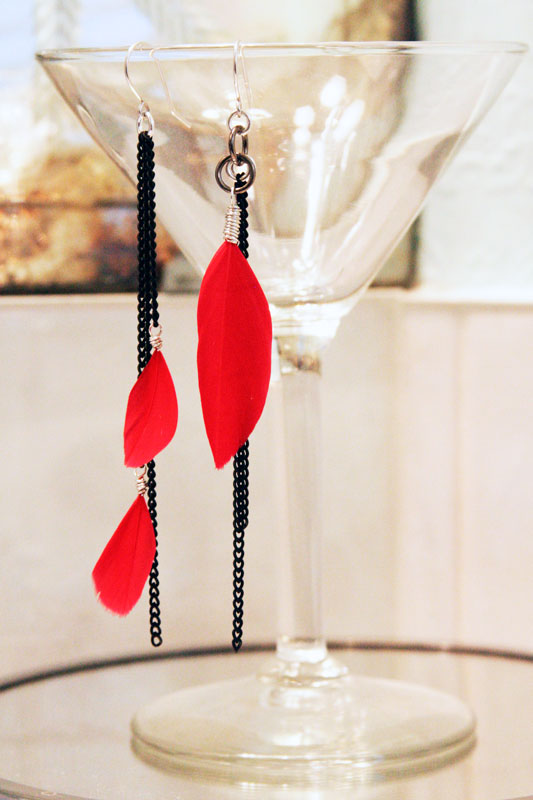 red-feather-earrings