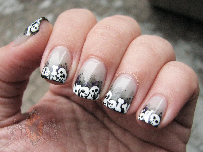Skeleton nail art face paint plus famous nails turns out i recreated a design the was a recreation itself i initially saw a sassy conspiracys photo and after a bit of prinsesfo Images