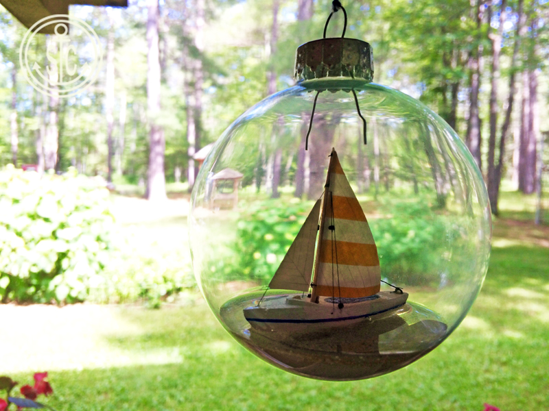 Saiboat-ornament