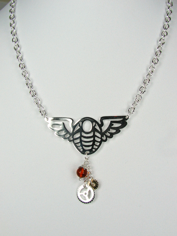 Winged Trilobite necklace