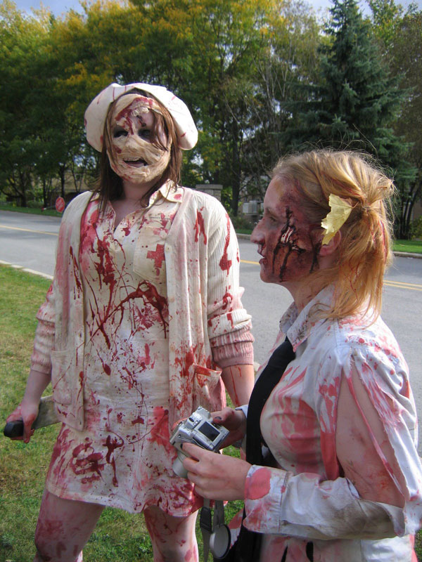 Silent Hill Nurse and School Girl Zombie